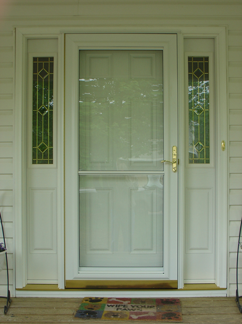 Provia Steel Entry W Sidelites And Storm Door
