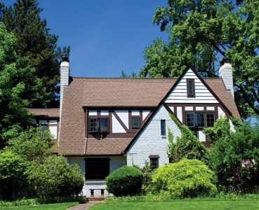 House Brown Window Tudor