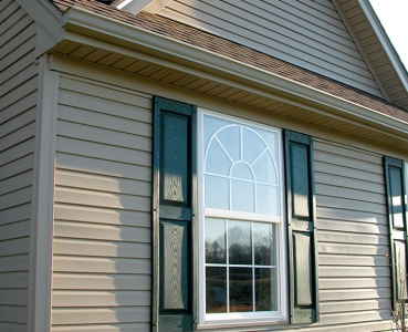 Double Hung Circle Top Exterior