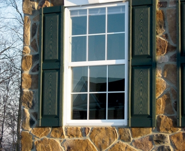 Double Hung Exterior Stone House