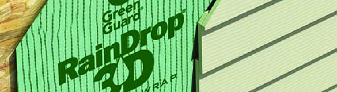 Raindrop 3D by GreenGuard- the superior air/moisture barrier